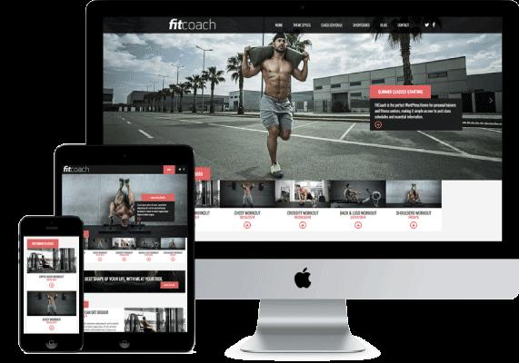 Fitcoach plantilla gratis y responsive WordPress