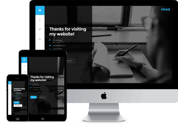 Hired theme wordpres gratis responsive