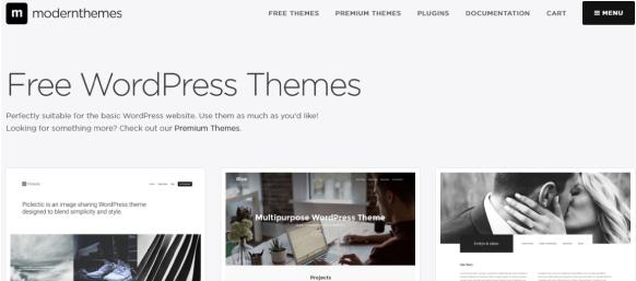 Moderthemes sitio web para descargar themes wordpress gratis responsive