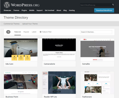 Wordpress sitio para descargar themes WordPress gratis y responsive