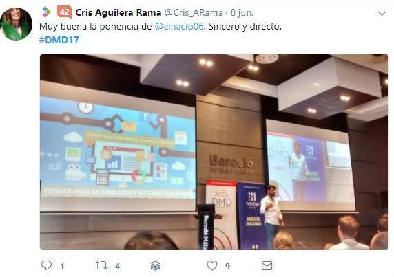 Claudio Inacio - Tweet en Conferencias