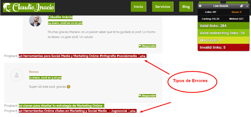 herramienta de backlinks check my links