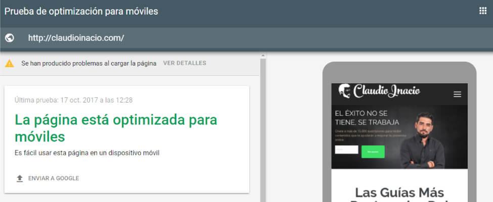 herramienta de optimización web para móviles