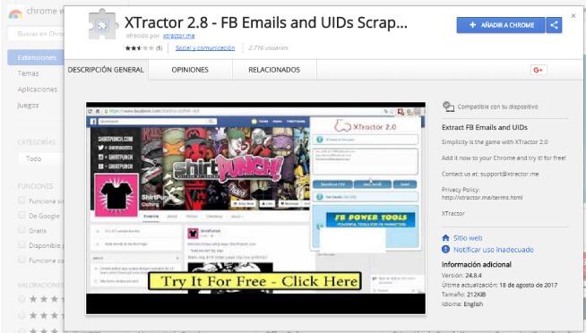 Xtractor herramientas de marketing online en 2017