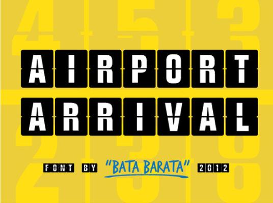 Airport Arrival tipografia