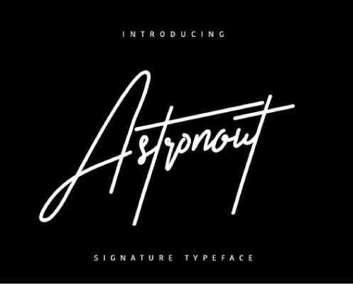 Descargar fuentes - Astronout Signature