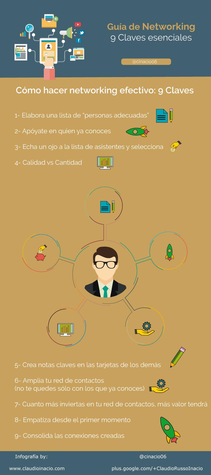 infografía cómo hacer networking claves esenciales