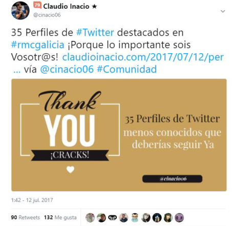 ejemplo de post dando valor a los asistentes