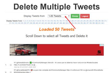 Elimina todos tus tweets con Delete Multiple Tweets