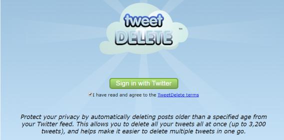 TweetDelete herramienta para borrar tweets viejos