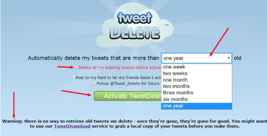 herramienta para eliminar tweets