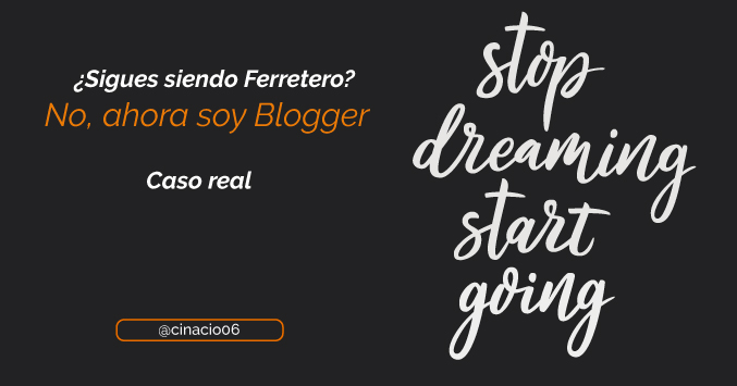 El Blog de Claudio Inacio - ¿Sigues siendo el vende tuercas? No, ahora soy Blogger…