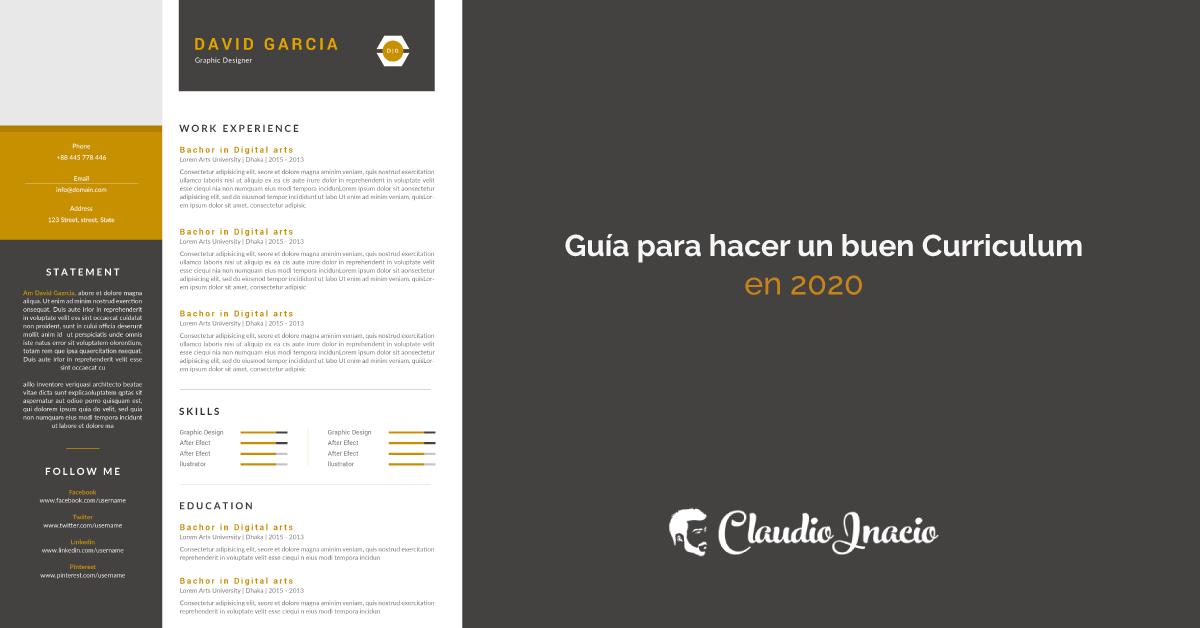 Como Hacer Un Buen Curriculum Vitae 2020 El Cv Perfecto