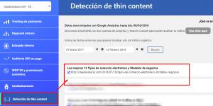 Detección de Thin Content de DinoRank