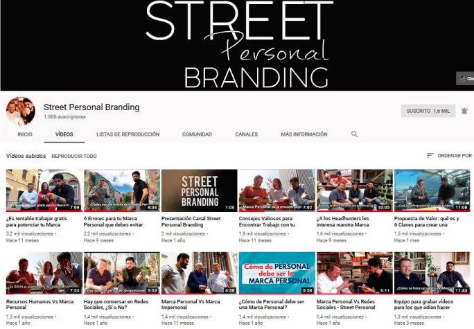 Mi experiencia como YouTuber en el primer año de Street Personal Branding
