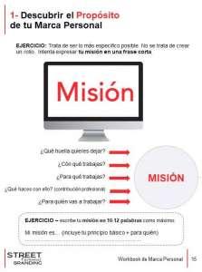 encontrar tu mision en workbook de marca personal