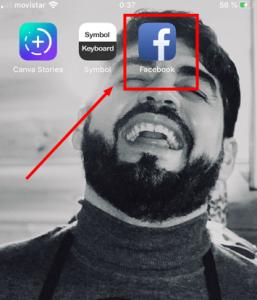 icono de app de facebook