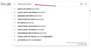 marca personal en google búsquedas