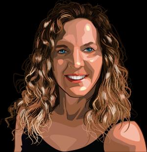 caricatura personalizada Elena Arnaiz