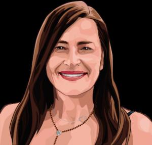 caricatura personalizada Eva Collado