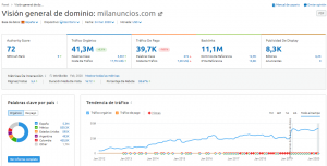 Guía Semrush - vision general