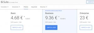 cuánto cuesta meet de google