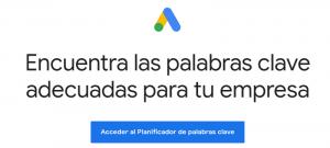 Keyword Planner planificador de palabras clave Google