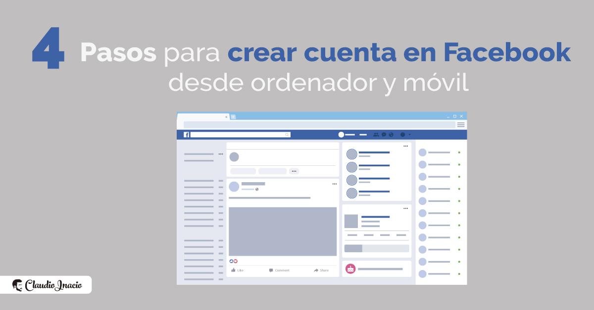 Cómo crear cuenta de Facebook nueva desde ordenador y móvil