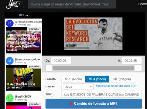 Yout.com para descargar videos de youtube a mp3