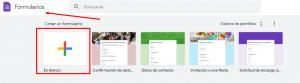 ejemplo de crear nuevo google forms