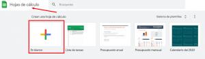 ejemplo de hojas de calculo de Google sheets