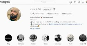 perfil de instragram de claudio inacio @cinacio06