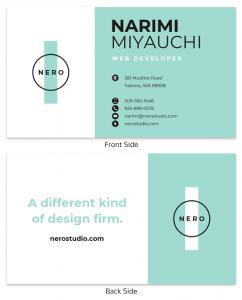 business card ejemplo