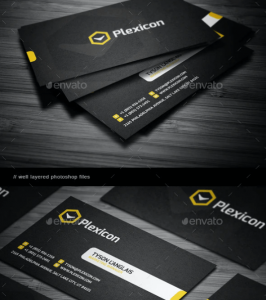 Business Card black profesional