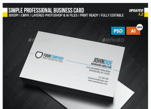 business card profesional ejemplo