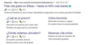 Tipos de Campañas de google ads - red de búsqueda