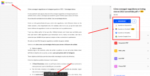 convertir Word a PDF con smallpdf