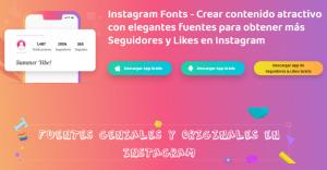 Instagram Fonts creador de letras para Instagram