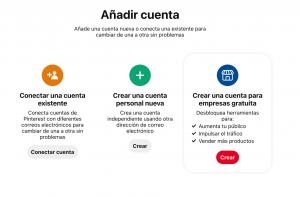 crea una cuenta para empresas en Pinteres con una persona